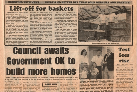 Newspaper clipping about Somerset Willow relocation