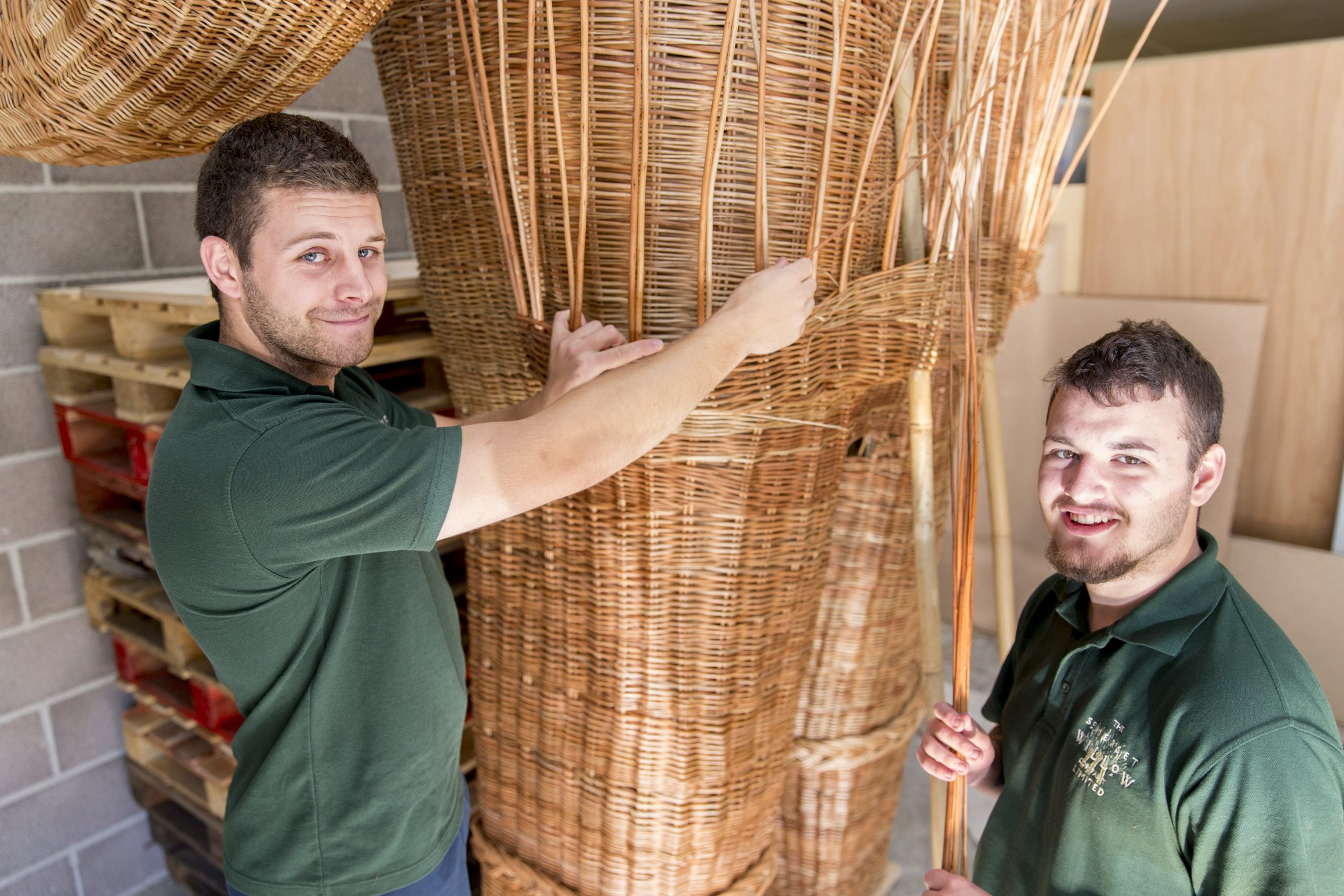 two workers form Somerset Willow